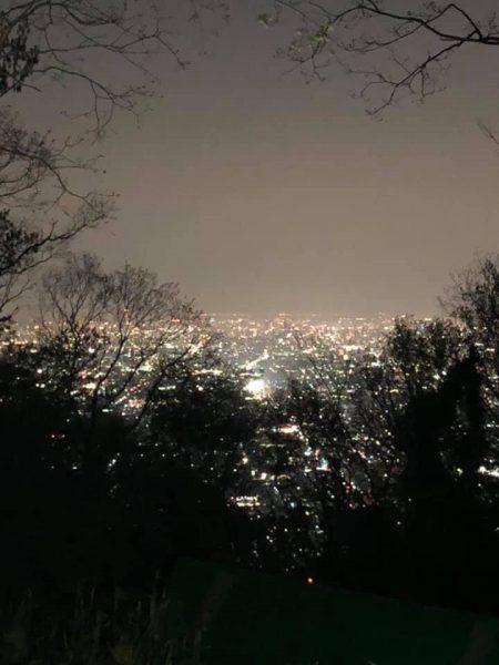 なるかわキャンプ場からの夜景