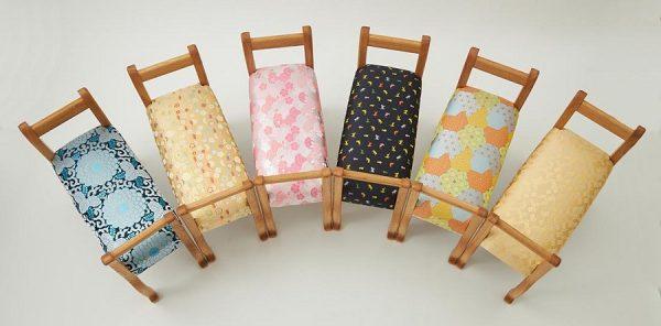 舞香花様 スツール 椅子 和柄