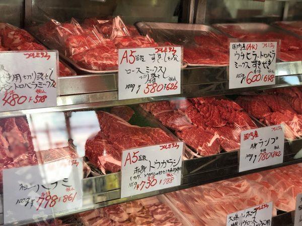 丸和精肉店様 お肉のショーケース